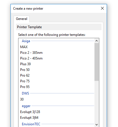 Conveniently manage 3D printer settings