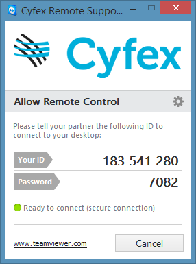 Download Cyfex remote support software